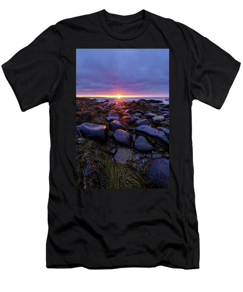 Morning Fire, Sunrise On The New Hampshire Seacoast  Men's T-Shirt (Athletic Fit)