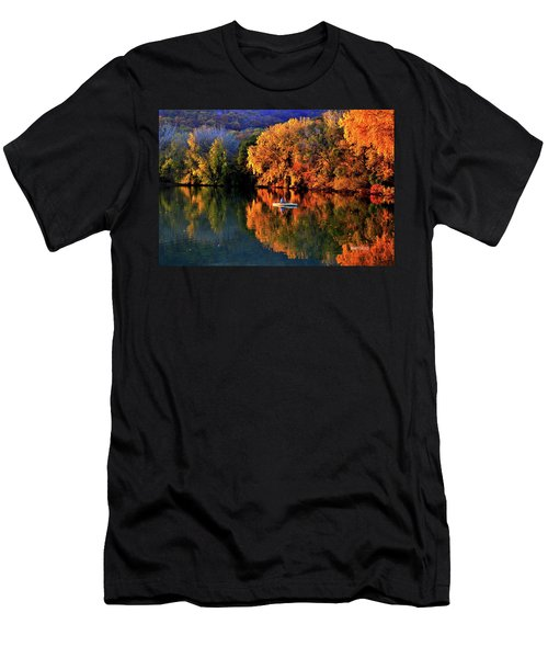 Morning Fishing On Lake Winona Men's T-Shirt (Athletic Fit)