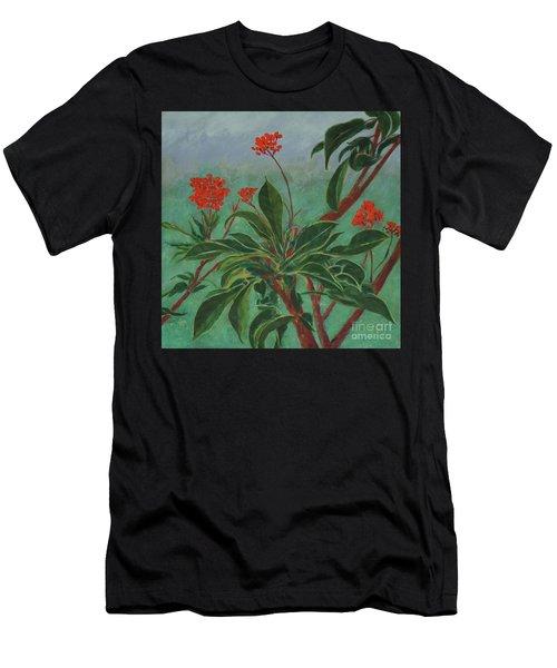 Morning Fog In The Garden Men's T-Shirt (Athletic Fit)