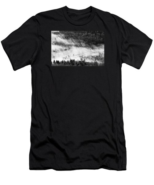 Men's T-Shirt (Athletic Fit) featuring the photograph Morning Fog by Ken Barrett
