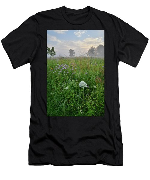 Morning Fog Over Glacial Park Prairie Men's T-Shirt (Athletic Fit)
