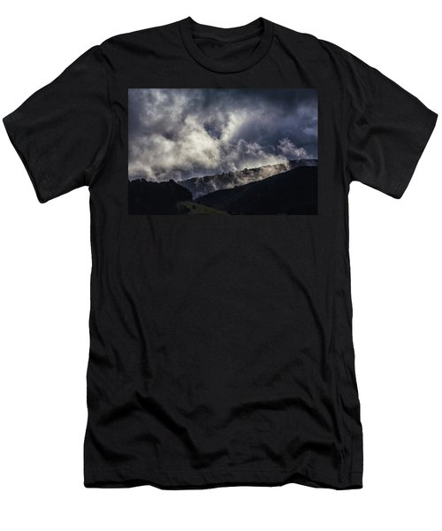 Morning Fog,mist And Cloud On The Moutain By The Sea In Californ Men's T-Shirt (Slim Fit) by Jingjits Photography