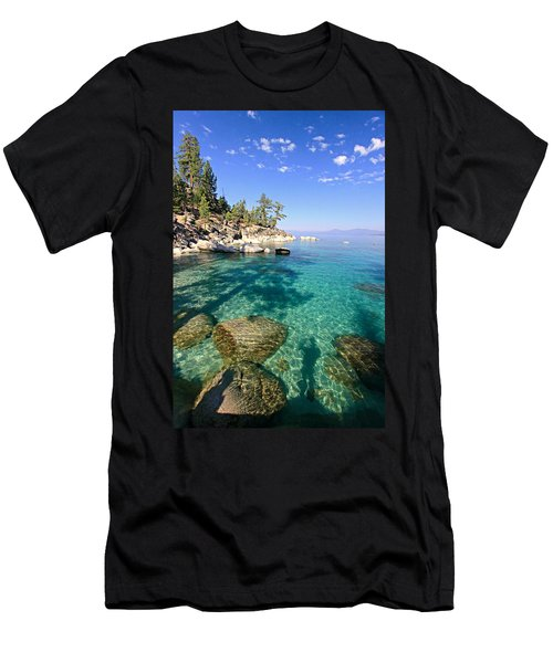 Morning Glory At The Cove Men's T-Shirt (Slim Fit) by Sean Sarsfield