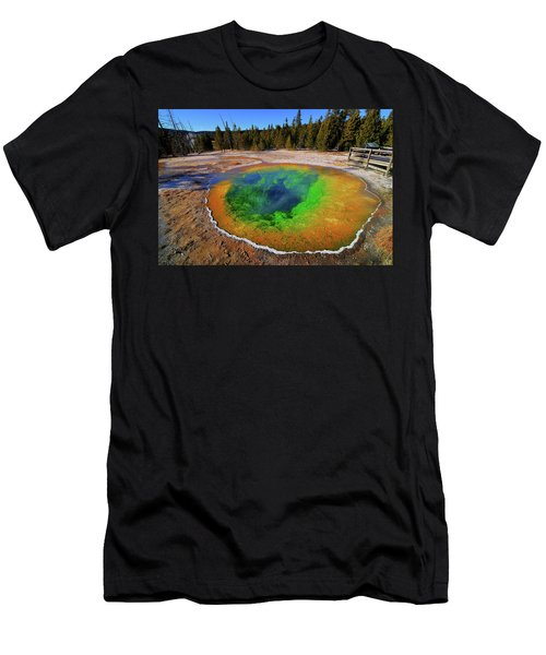 Morning Glory Pool Men's T-Shirt (Athletic Fit)