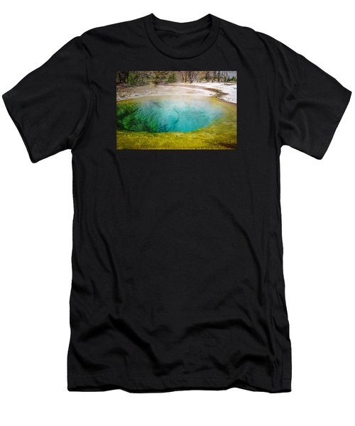 Morning Glory Pool Yellowstone National Park Men's T-Shirt (Athletic Fit)
