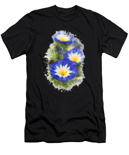 Morning Glory Watercolor Art Men's T-Shirt (Athletic Fit)