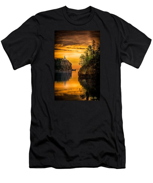 Men's T-Shirt (Athletic Fit) featuring the photograph Morning Glow Against The Light by Rikk Flohr