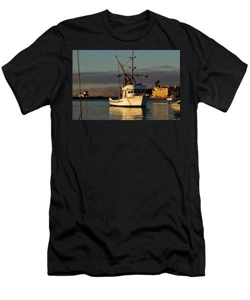 Morning Harbor Light Men's T-Shirt (Athletic Fit)