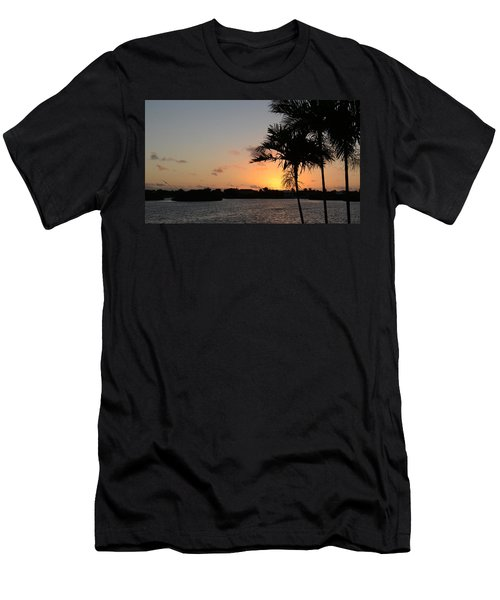 Men's T-Shirt (Slim Fit) featuring the photograph Morning Has Broken Two by Pamela Blizzard