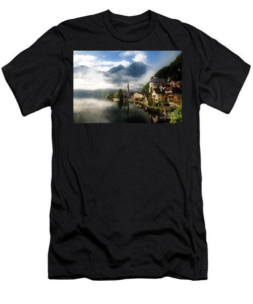 Men's T-Shirt (Athletic Fit) featuring the photograph Morning In Hallstatt by Scott Kemper