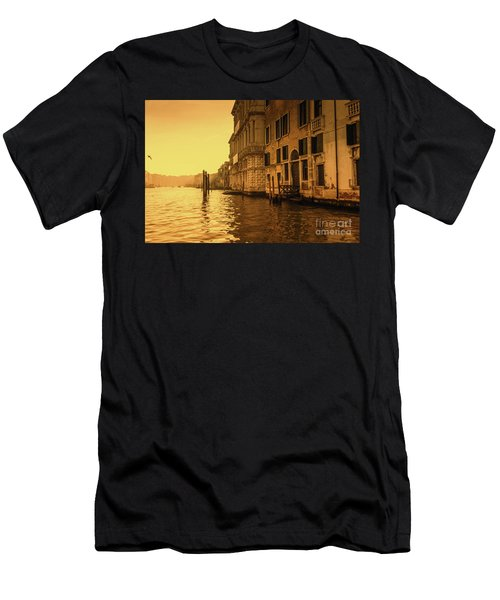 Morning In Venice Sepia Men's T-Shirt (Athletic Fit)