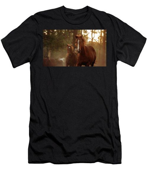 Morning Jog - Three Bars Ranch Men's T-Shirt (Athletic Fit)