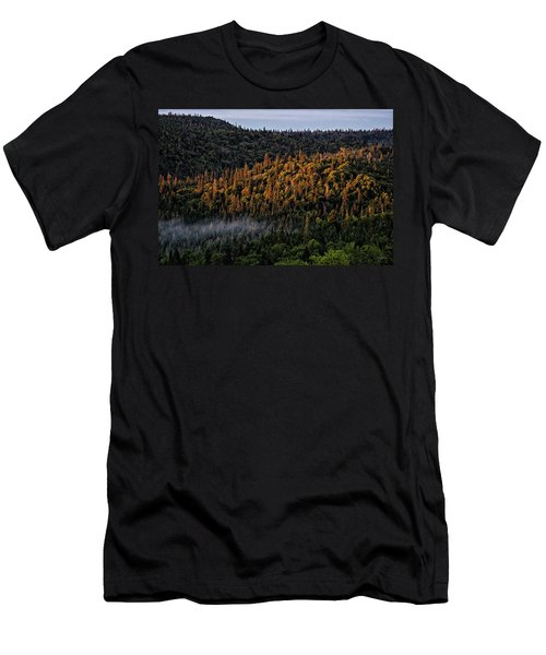 Men's T-Shirt (Athletic Fit) featuring the photograph Morning Kiss by Doug Gibbons
