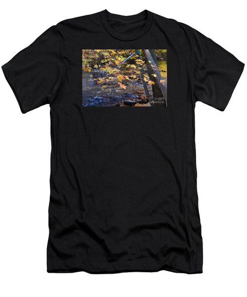 Morning Leaves Falls Park Pendleton Men's T-Shirt (Athletic Fit)