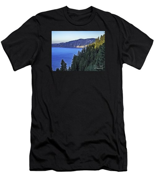 Morning Light At Crater Lake, Oregon Men's T-Shirt (Athletic Fit)
