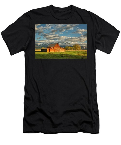 Morning Light On Moulton Barn #2 Men's T-Shirt (Athletic Fit)