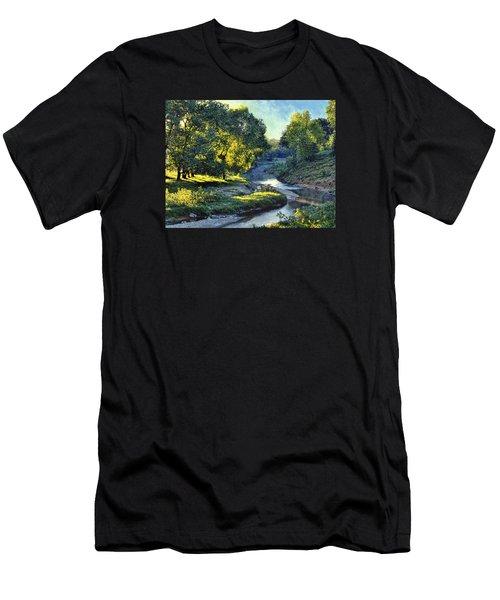 Morning Light On The Creek Men's T-Shirt (Athletic Fit)