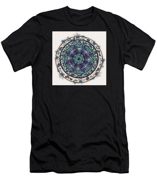 Morning Mist Mandala Men's T-Shirt (Athletic Fit)