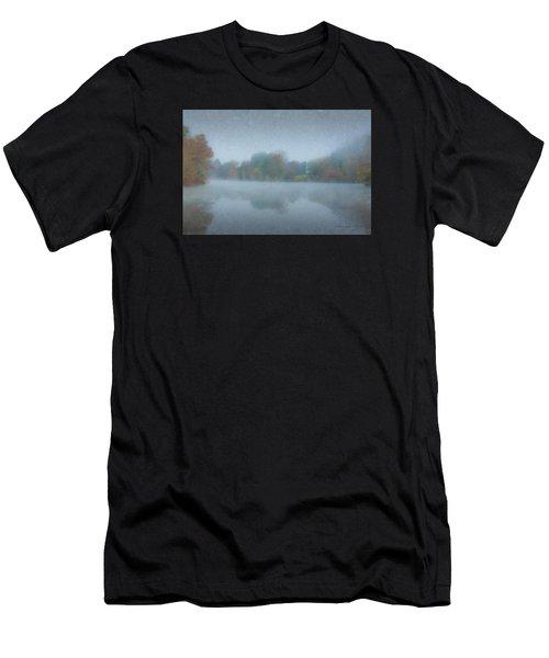 Morning Mist On Langwater Pond Men's T-Shirt (Athletic Fit)