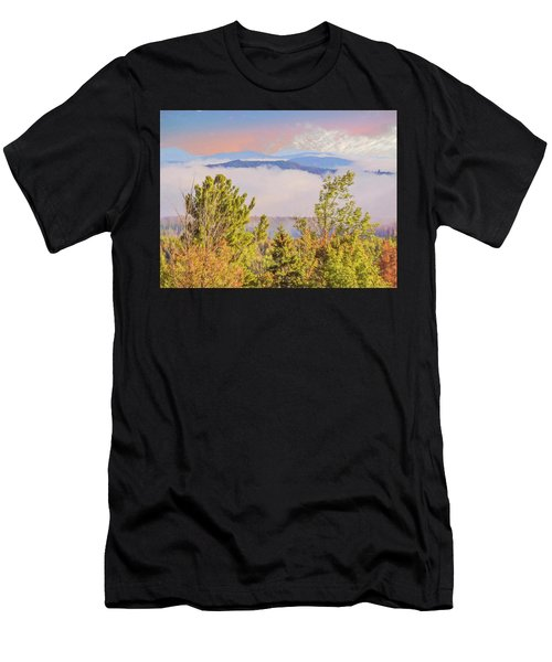 Morning Mountain View Northern New Hampshire. Men's T-Shirt (Athletic Fit)