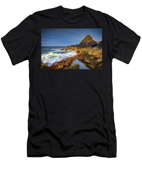 Men's T-Shirt (Athletic Fit) featuring the photograph Morning On Bailey Island by Rick Berk