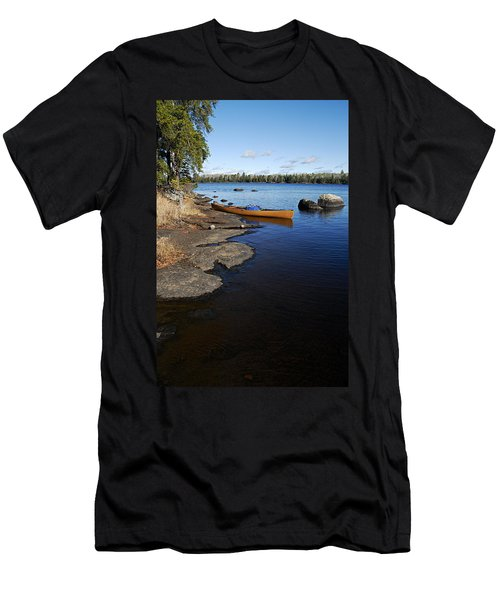 Morning On Hope Lake Men's T-Shirt (Slim Fit) by Larry Ricker