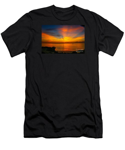 Morning On The Water Men's T-Shirt (Slim Fit) by Tom Claud