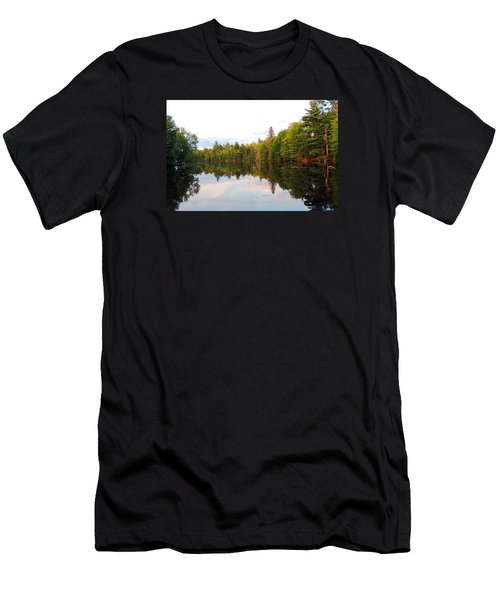 Men's T-Shirt (Slim Fit) featuring the photograph Morning Reflection by Teresa Schomig