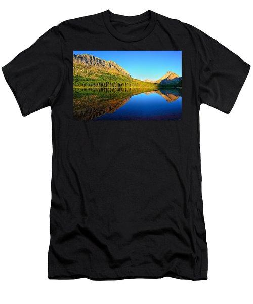 Morning Reflections At Fishercap Lake Men's T-Shirt (Slim Fit) by Greg Norrell