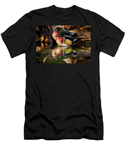 Morning Reflections - Wood Ducks Men's T-Shirt (Athletic Fit)