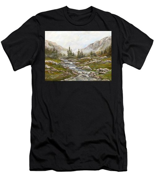 Morning Rising Fog Men's T-Shirt (Athletic Fit)