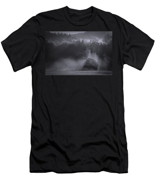 Men's T-Shirt (Athletic Fit) featuring the photograph Morning Sun Rising Fog Cades Cove by Dan Sproul