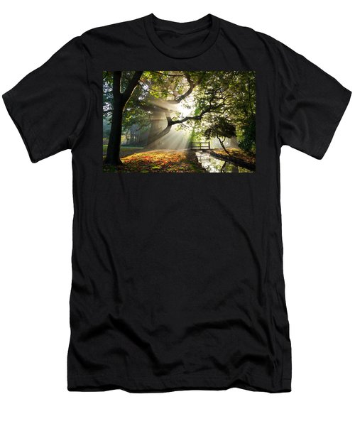 Morning Sunrise In Hampden Park Men's T-Shirt (Athletic Fit)