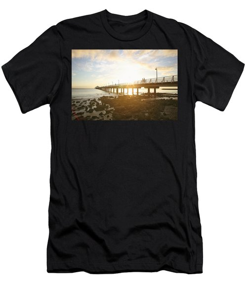 Morning Sunshine At The Pier  Men's T-Shirt (Athletic Fit)