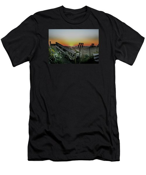 Morning View  Men's T-Shirt (Slim Fit) by Skip Willits