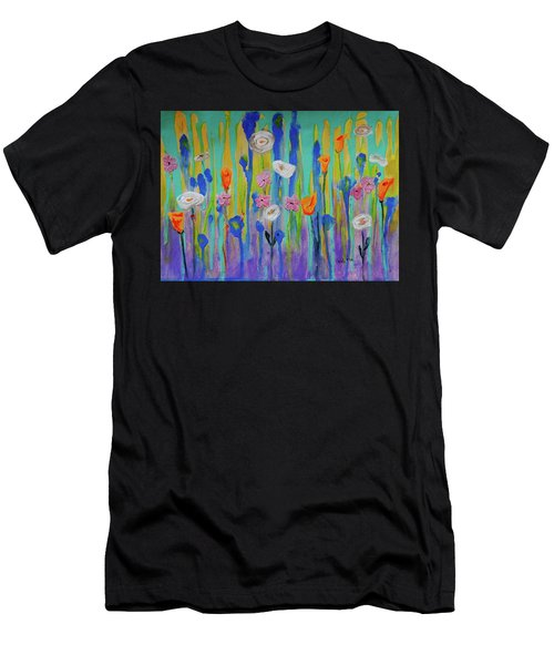Morning Wildflowers Men's T-Shirt (Athletic Fit)