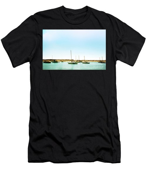 Moro Bay Inlet With Sailboats Mooring In Summer Men's T-Shirt (Athletic Fit)