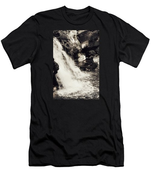Men's T-Shirt (Slim Fit) featuring the photograph Morrell Falls 7 - 2015 by Janie Johnson