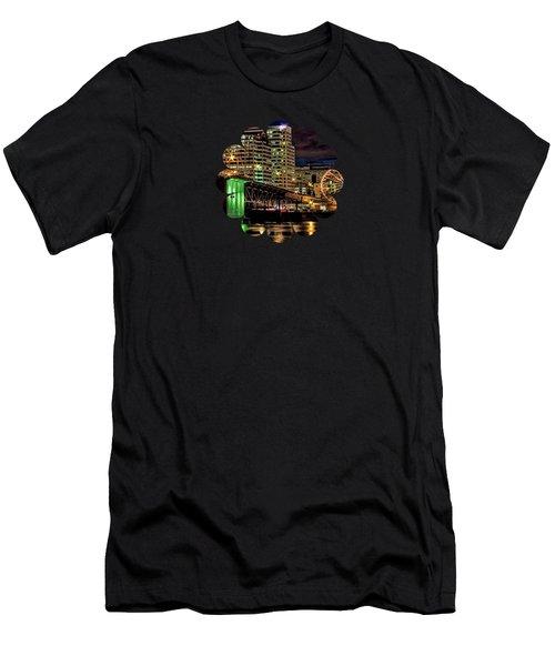 Morrison Bridge At The Cinco De Mayo Celebration Men's T-Shirt (Athletic Fit)
