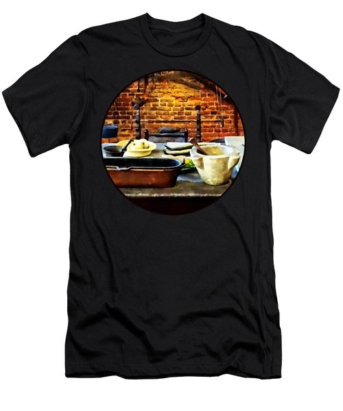 Mortar And Pestles In Colonial Kitchen Men's T-Shirt (Athletic Fit)