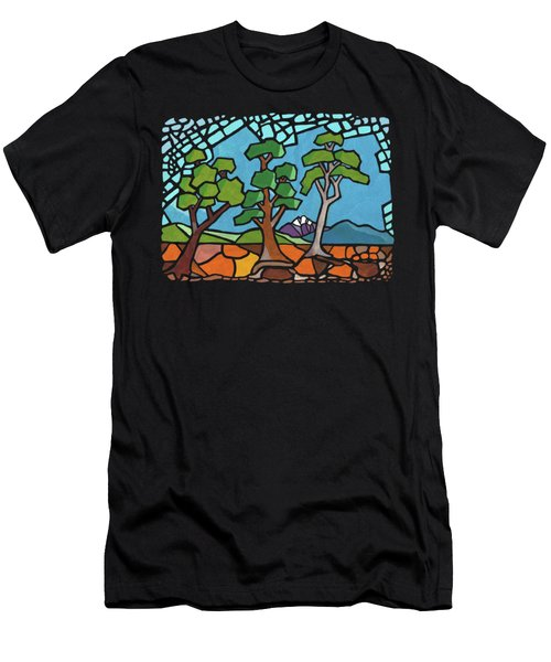 Mosaic Trees Men's T-Shirt (Slim Fit) by Anthony Mwangi
