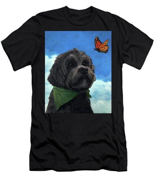 Moses - Pet Portrait Men's T-Shirt (Athletic Fit)