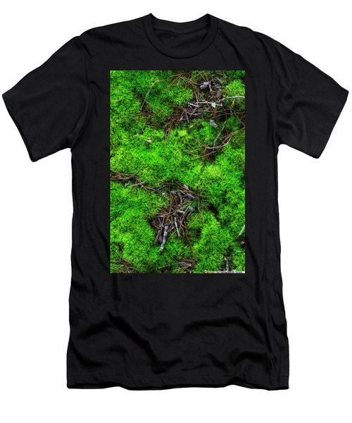 Men's T-Shirt (Slim Fit) featuring the photograph Moss On The Hillside by Mike Eingle