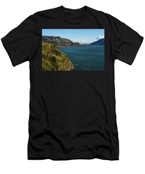 Mossy Cliffs On The Columbia Men's T-Shirt (Athletic Fit)
