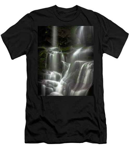 Mossy Waterfall Men's T-Shirt (Athletic Fit)