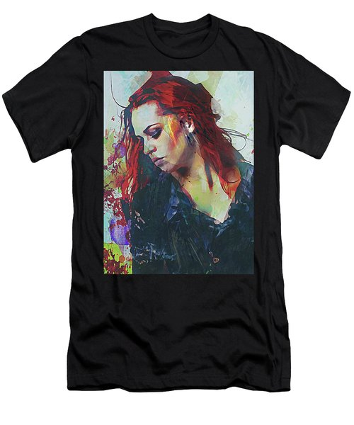 Mostly- Abstract Portrait Men's T-Shirt (Athletic Fit)