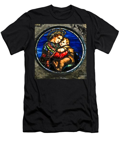 In God We Trust Wall Art Print Men's T-Shirt (Slim Fit) by Carol F Austin