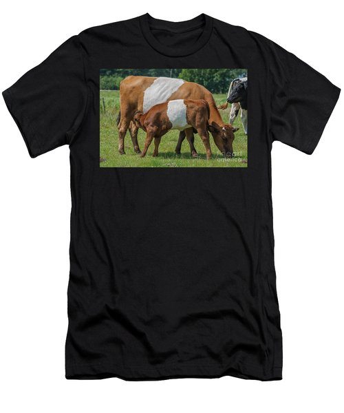 Men's T-Shirt (Slim Fit) featuring the photograph Mother And Child by Patricia Hofmeester