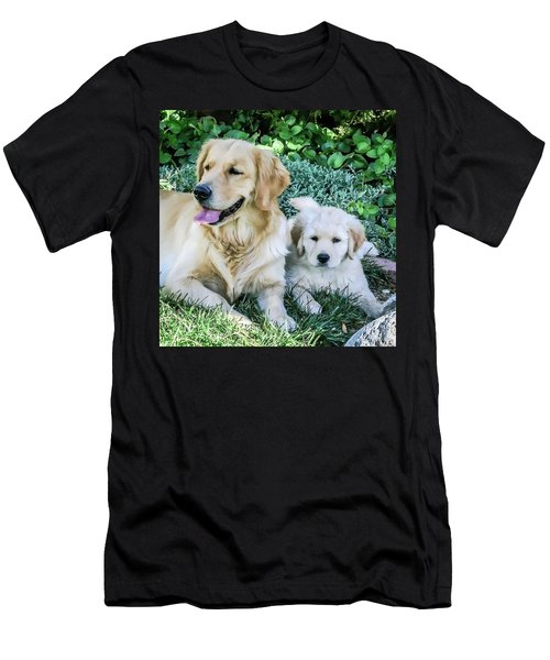 Mother And Pup Men's T-Shirt (Athletic Fit)