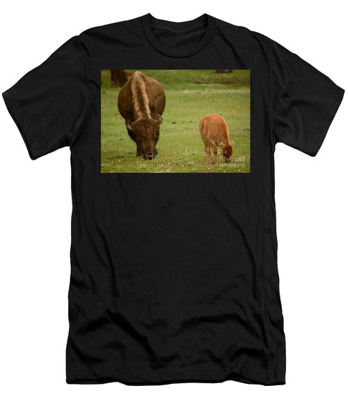 Mother And Red Dog Men's T-Shirt (Athletic Fit)